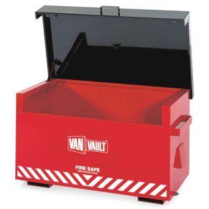 Van Vault Fire Safe fire proof site tool equipment storage locker