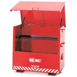 Van Vault Fire Store fire proof site tool equipment storage locker