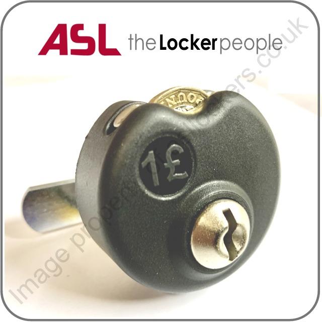 asl lockers cupboards retro-fitting £1 coin token lock for lockers