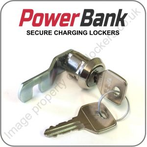 Powerbank charging locker replacement key cam lock
