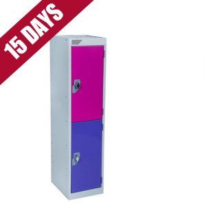 Key Stage 1 primary junior school low locker 2 door compartment