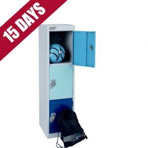 Key Stage 1 primary junior school low locker 3 door compartment