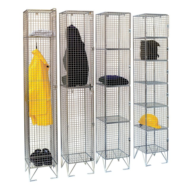 wire mesh zinc lockers