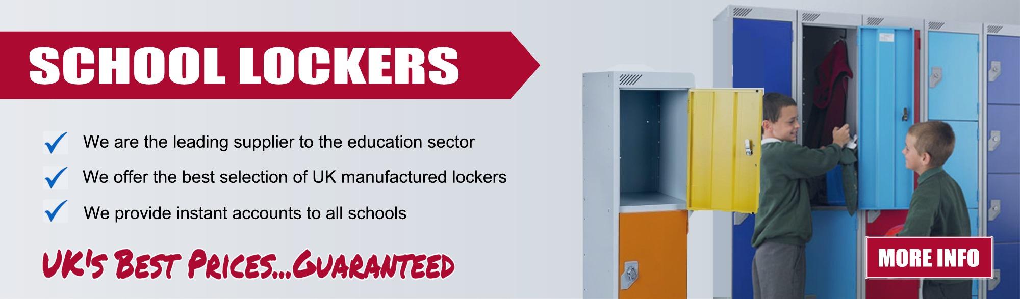 School Lockers, Special School Prices, Discounts for schools lockers