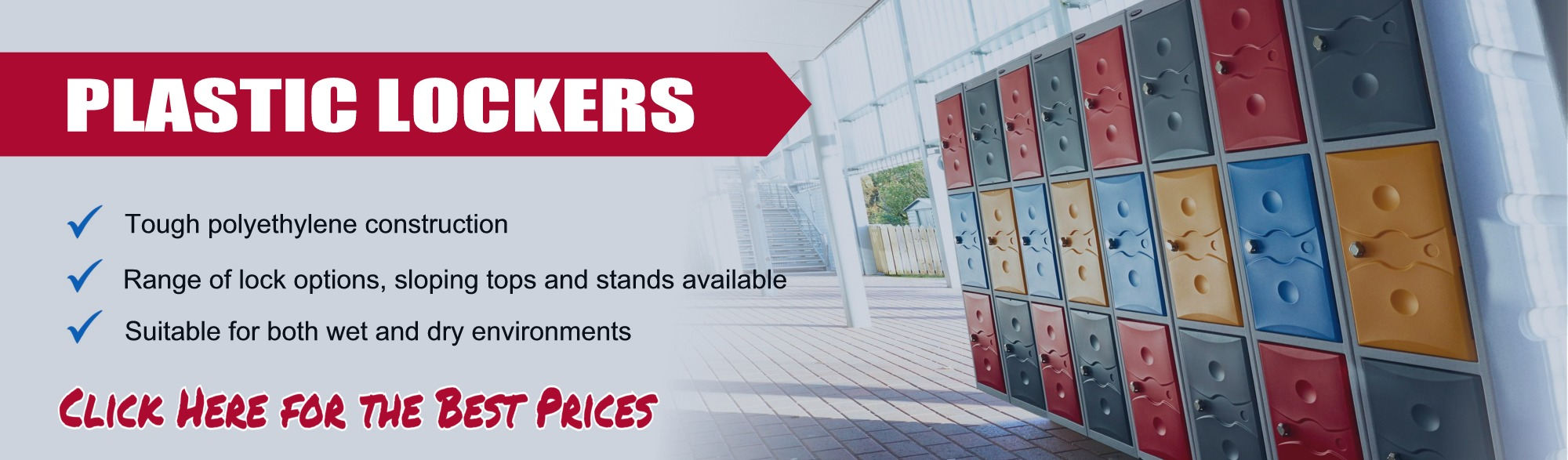 Plastic lockers from £59.99
