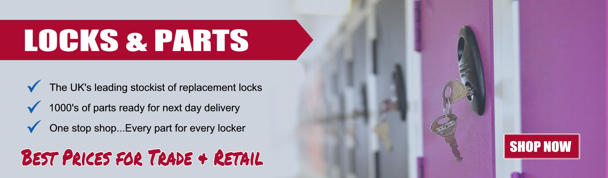 locks, keys replacement parts for every locker