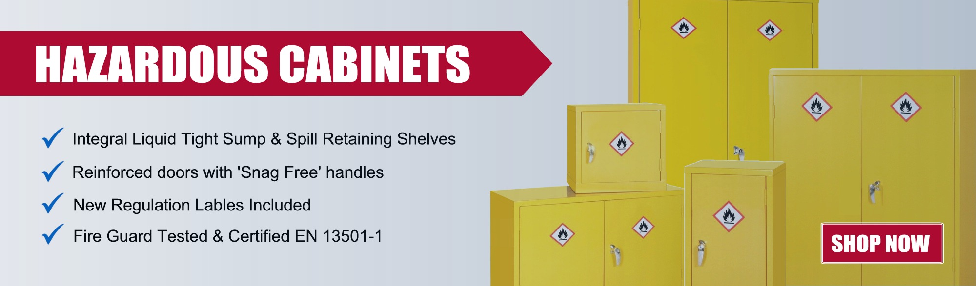 hazardous cabinets from £132.49