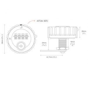 Kitlock Codelocks KL10 manual 4 digit combination lock for lockers cabinets cupbopards