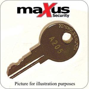 maxus Combination Lock Master Overide Key