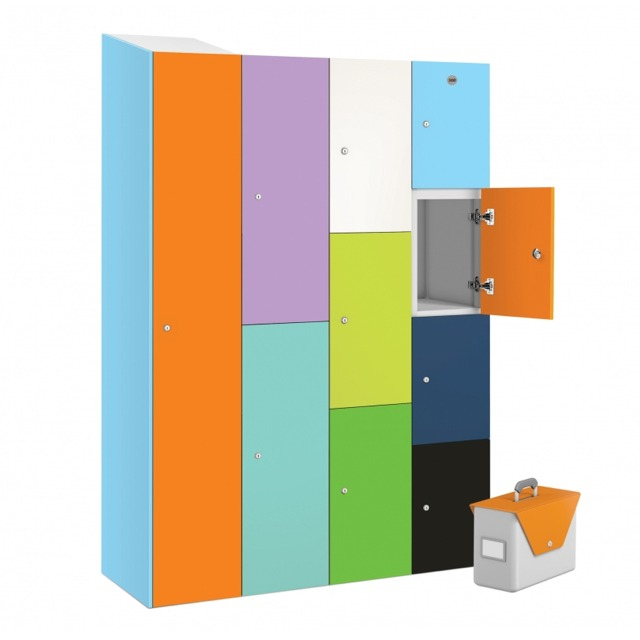 office buzzbox laminate matte gloss hot desk lockers