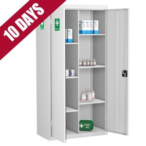 12 compartment medical cabinet first aid storage cupboard