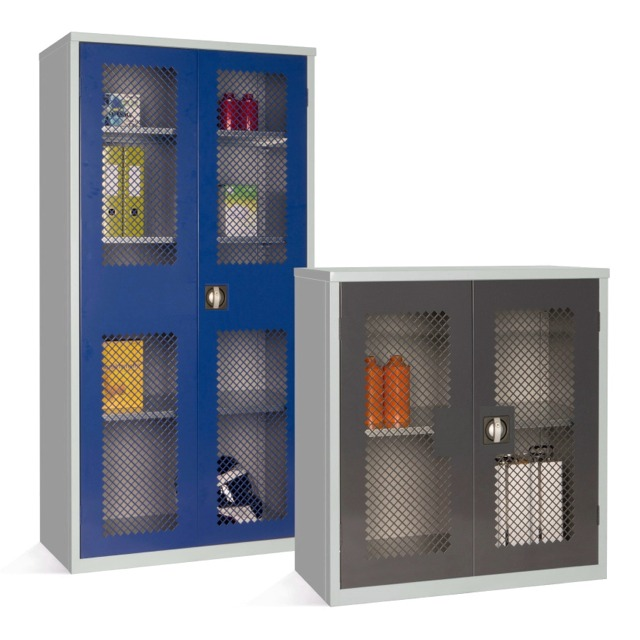 mesh front vision security cupboard