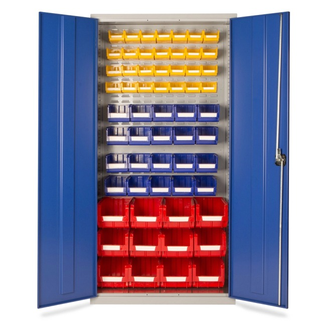 small parts storge plastic bin cupboards