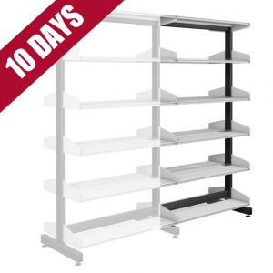 Probe Technic Library Office Shelving Double Sided Extension Bay