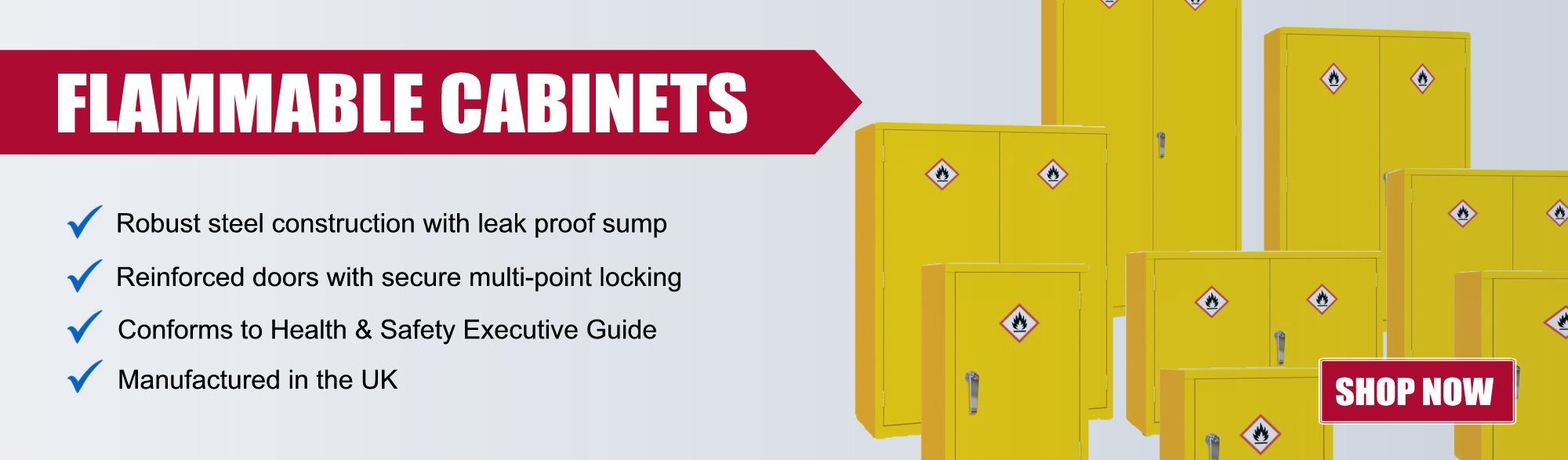 hazardous cabinets from £132.49