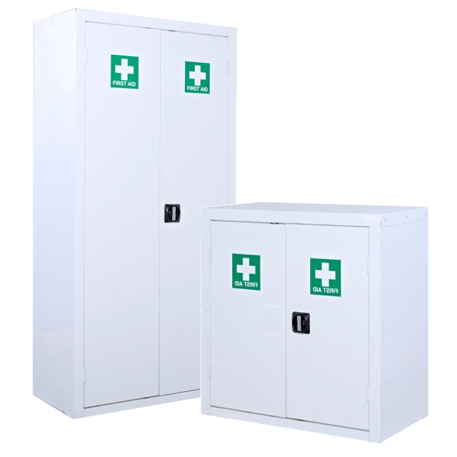 first aid medical site cabinets cupboards storage
