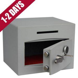 Mini Vault Deposit Silver 1 Key Locking