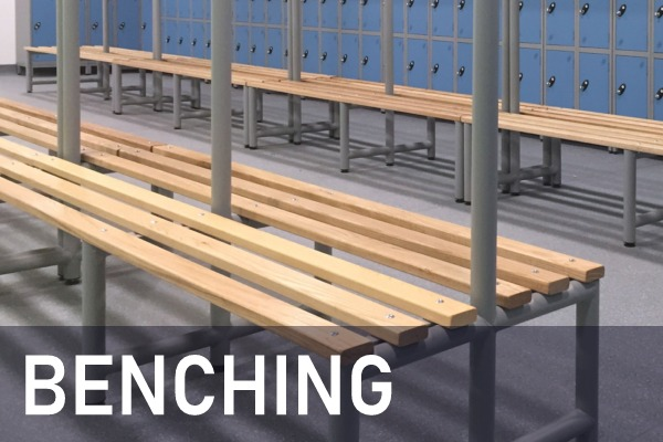 Locker room Benching, cloakroom benching, changing room benching