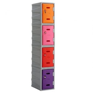 Plastic Lockers - mixed colour stack of 4