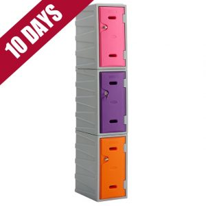 3 Tier Plastic locker