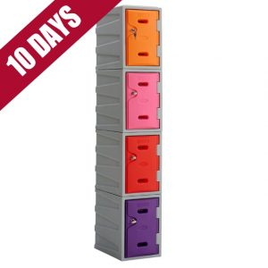 4 Tier Plastic locker