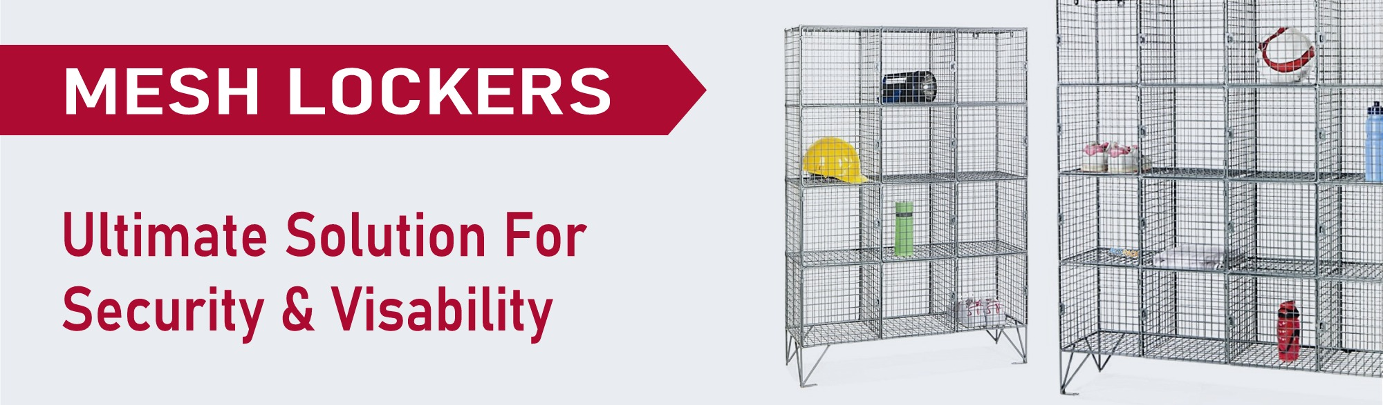 wire mesh zinc coloured high visibilty lockers