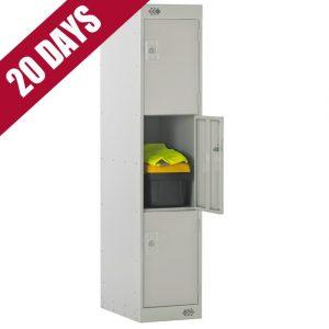 Link Three Quarter Height Low Level Primary School Locker 3 door