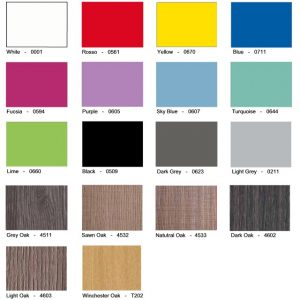 Vedette Laminate Lockers Colours & Finishes