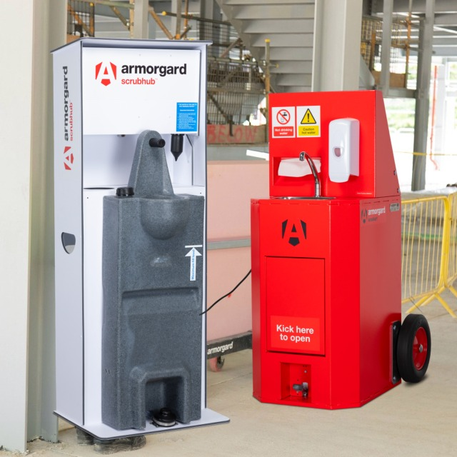 Static and mobile sanitisation units for workplace and site
