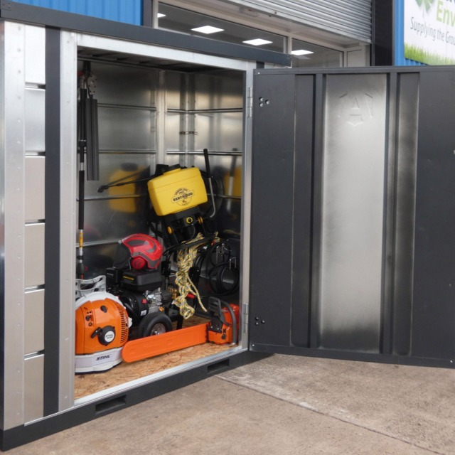 tool battery site charging locker