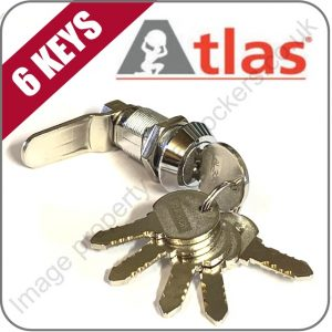 Atlas steel extreme plastic lockers replacement cam lock with 6 keys