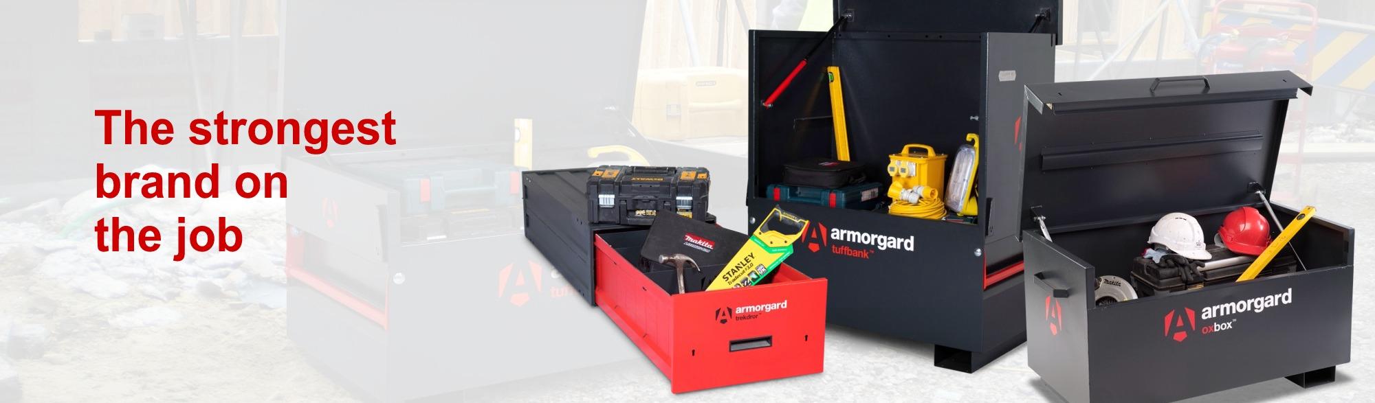 tool battery charging storage site van box locker