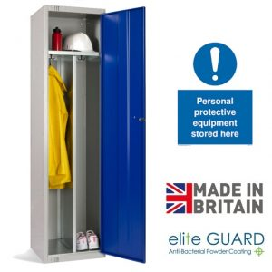 Elite PPE clean and dirty divided locker