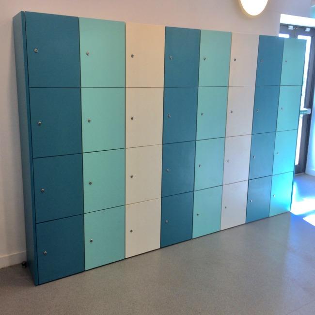 office buzzbox laminate matte gloss hot desk lockers