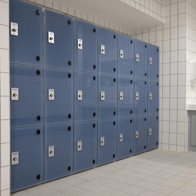 Milano glass door lockers