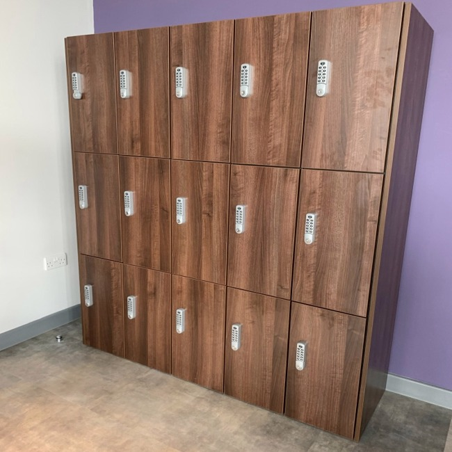 timber wood mfc door lockers