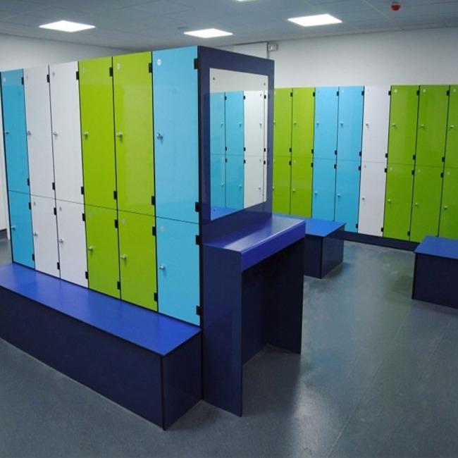 wet area aluminium lockers