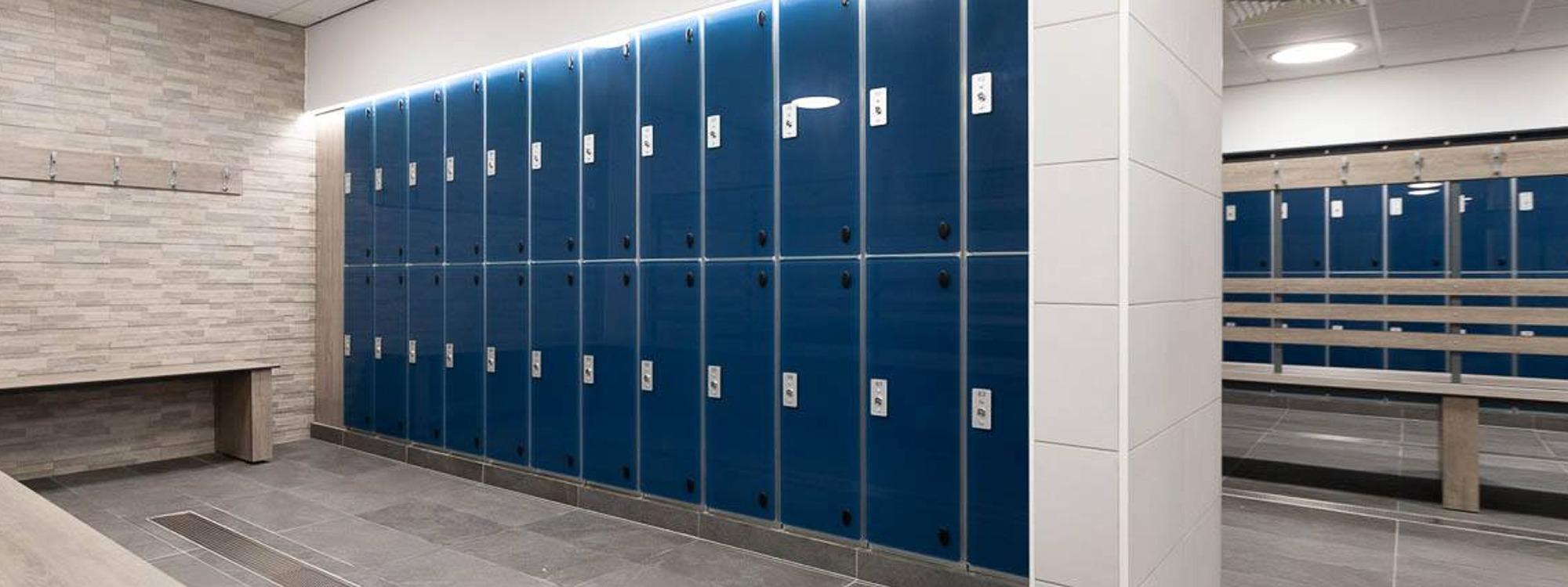 Milano glass door leisure aluminum lockers